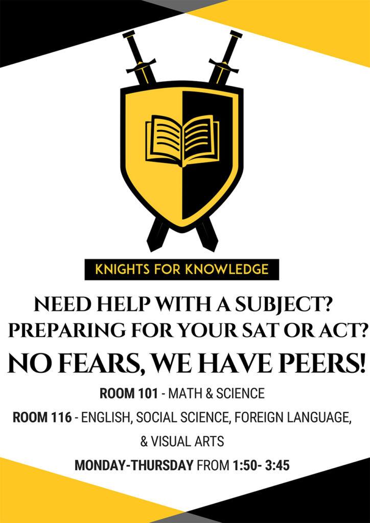 Knights fr Knowledge: Peer Tutoring