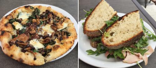 Wild Mushroom, Caramelized Onion, Arugula & Basil Mayonnaise Pizza