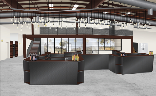 Broken Earth Tasting Room Bar Rendering