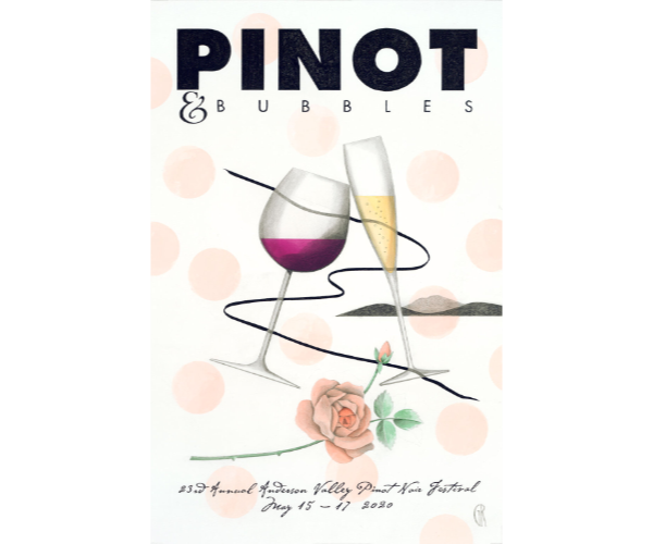 Anderson Valley Pinot Fest 2020 Poster