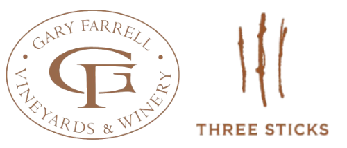 Gary Farrell and Three Sticks logos