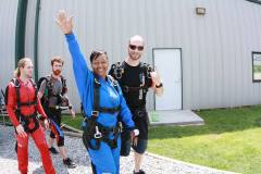 Sky Diving with Crusaders for Colon Cancer