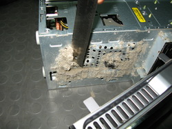 Chunks of dust from computer vents