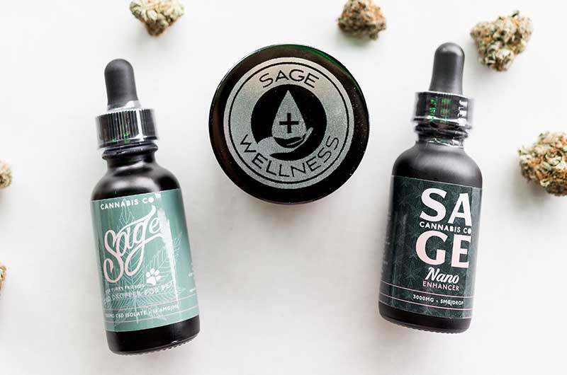 Sage Wellness Brand of CBD extracts