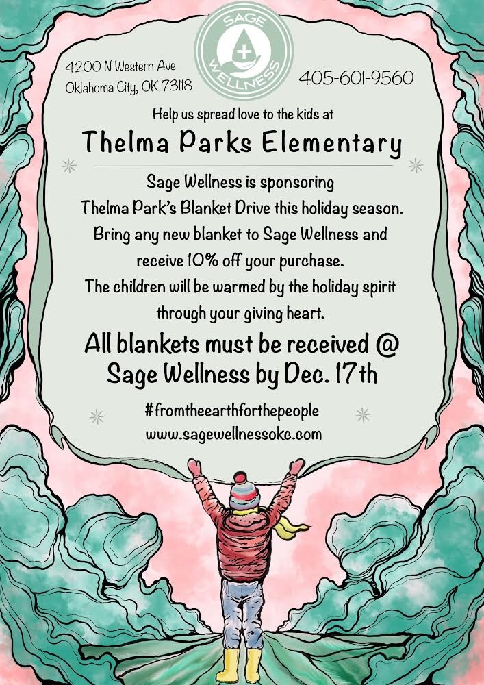 Sage Wellness' Blanket drive for Thelma Parks Elementary