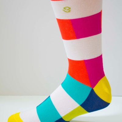 Color Blocker Womens Sock