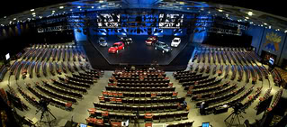 stage lighting with cars