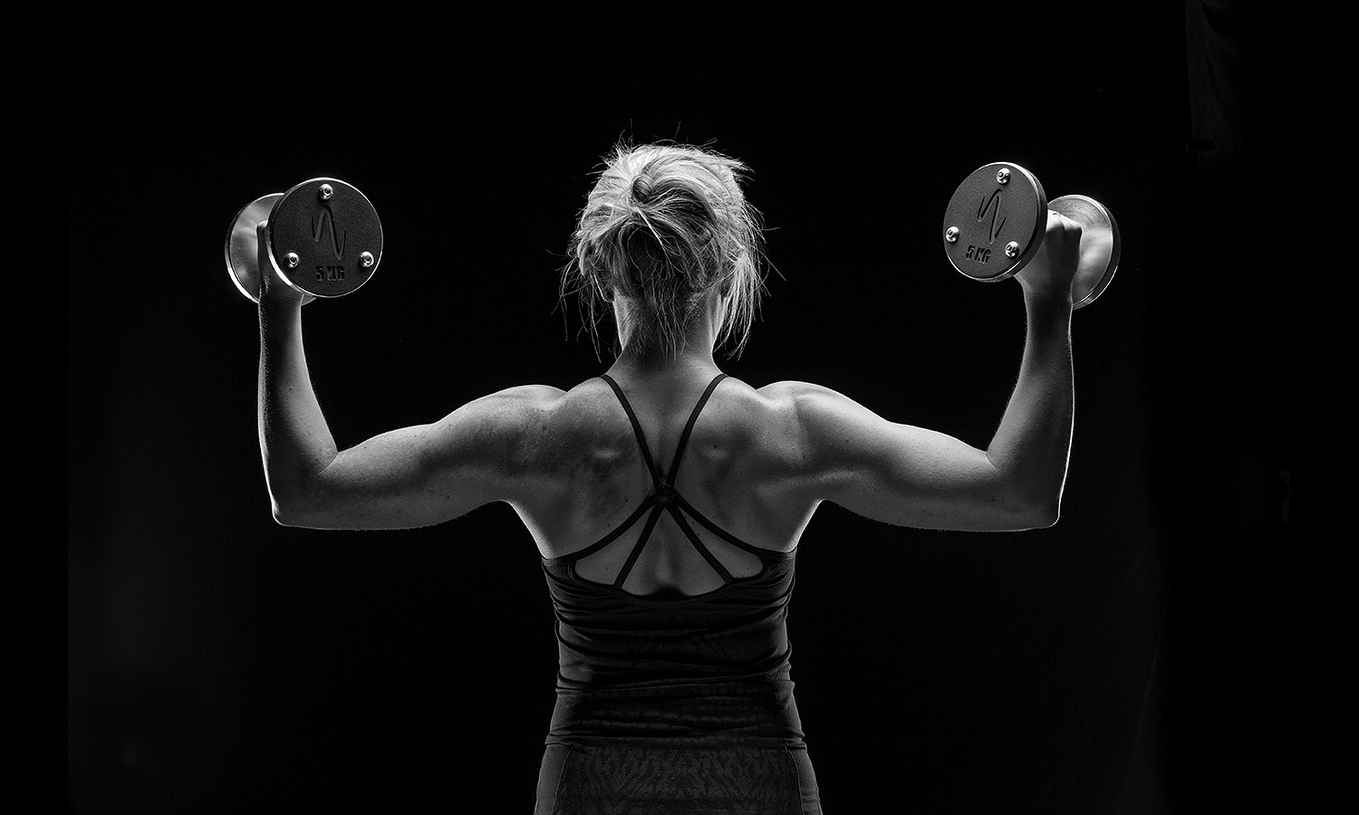 Fitness black and white advertising photographer