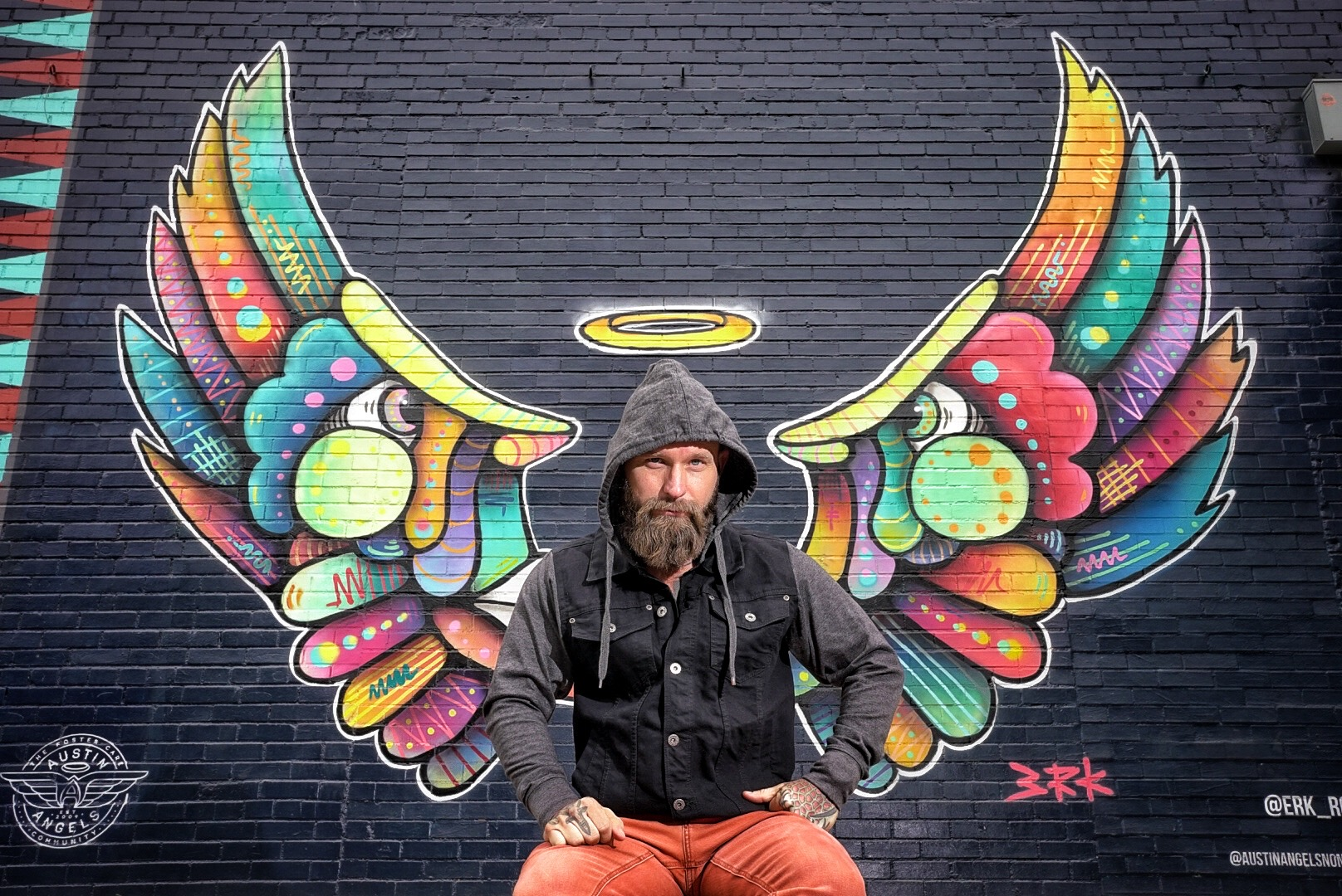 Lifestyle portrait of beard man
