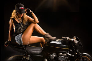 babe on motorcycle