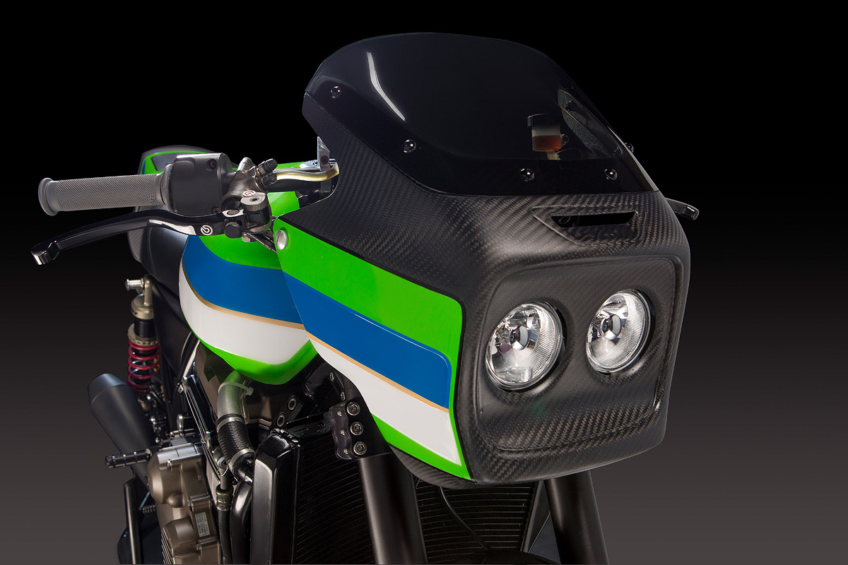 product photography of motorcycle