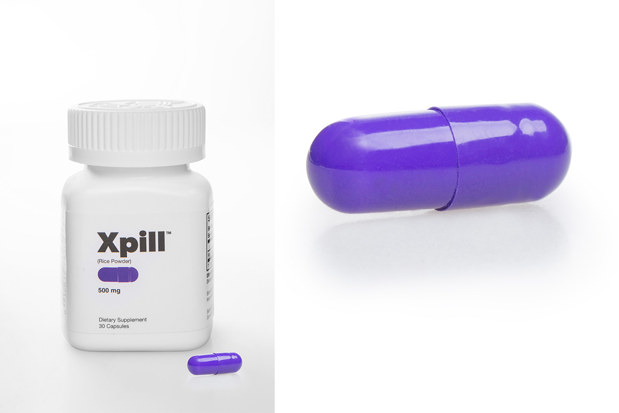 product photography of pills