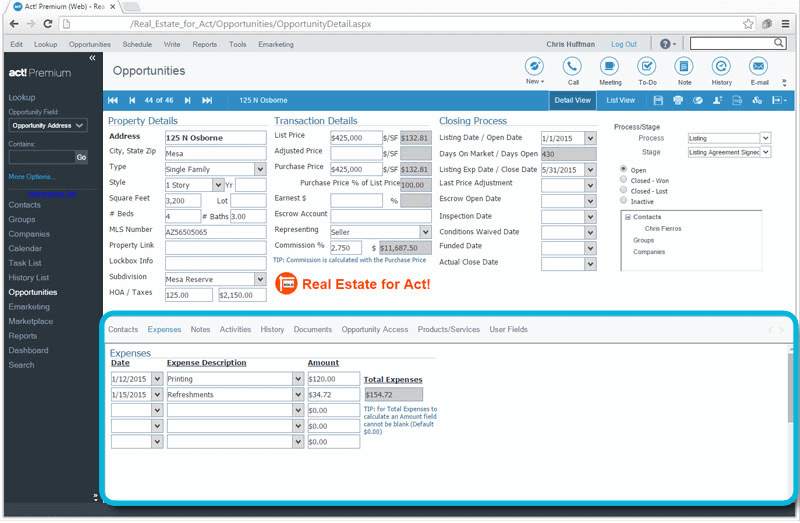 CRM_for_Real_Estate_Track_Expenses_for_Property_Transactions