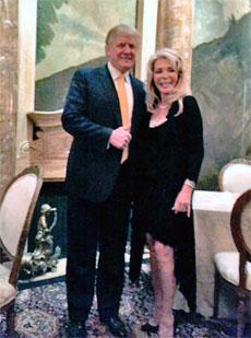 Toni Holt Kramer and Donald Trump
