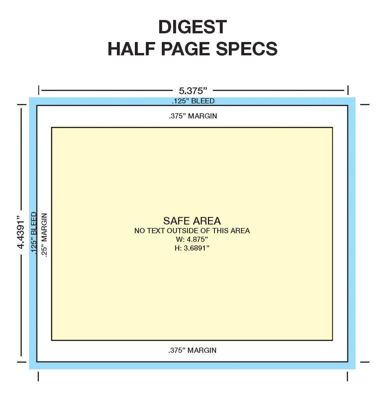 Digest Half Page Specs