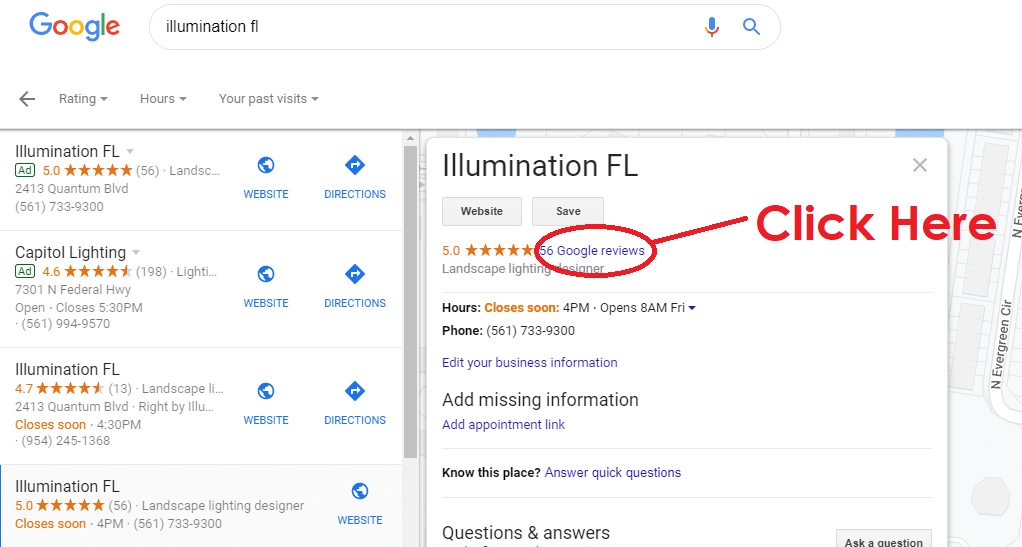 Google - Illumination FL - Landscape Lighting - Online Reviews