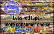 Regulations kill diversity. Less red tape=more consumer choice