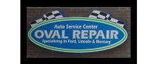 Oval Repair Sign