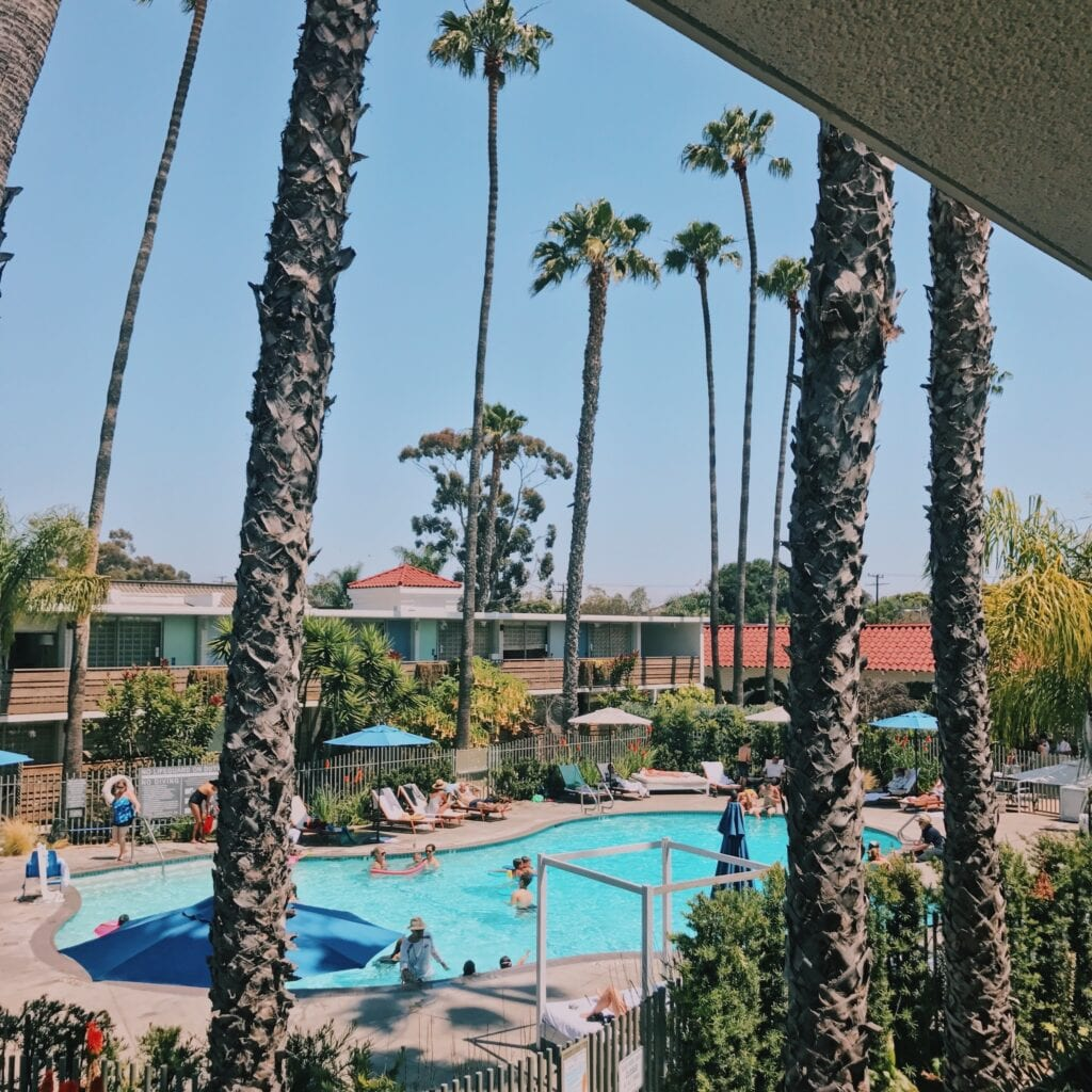 The Kimpton's Goodland Hotel near Santa Barbara has a courtyard pool that feels like an oasis.