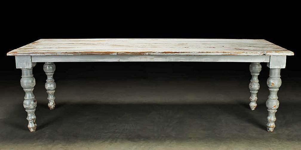 "T1764: Typically 94"" in length, Narrow 35"" width, Shown in Distressed Weathered Grey"
