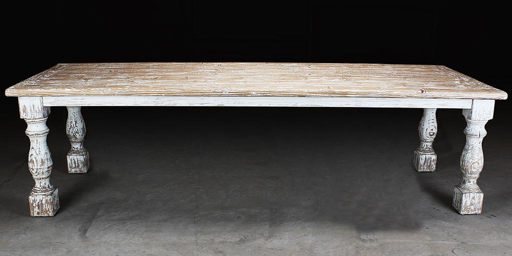 "T1886: Typically 90"" to 110"" in length, Shown in Distressed White"