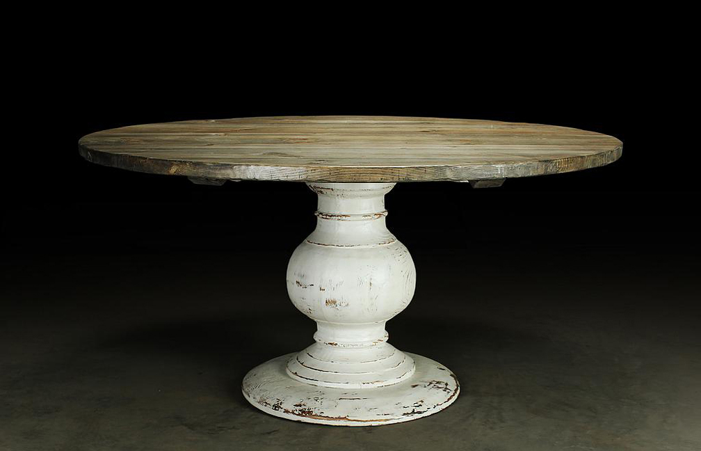 "T2015: Typically 50"" to 60"" in diameter, Shown in Mountain Cedar Stain with Distressed White Base"
