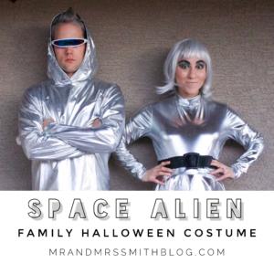 Halloween 2019 Family Space Alien Costumes