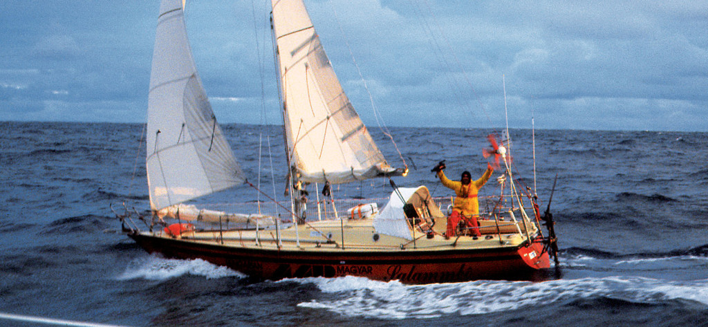 Istvan aboard Salammbo in Pacific Ocean