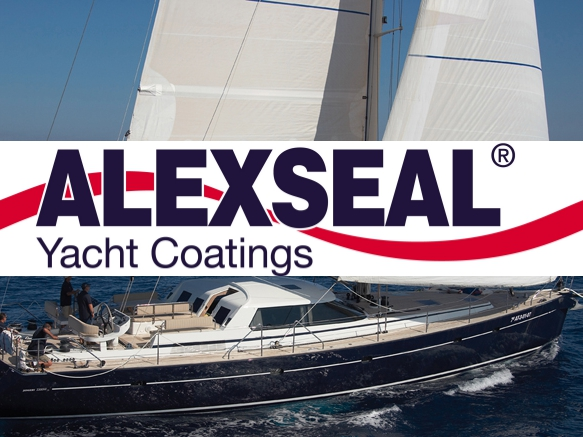 Alex seal Yacht Coatings Logo with Sailboat Image