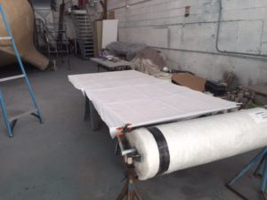 """Fiberglass roll on standby for its """"tailoring"""""""