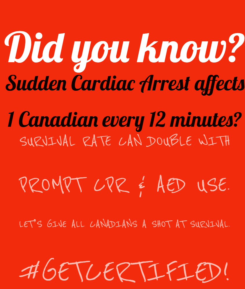 SCA Affects 1 Canadian Every 12 Minutes