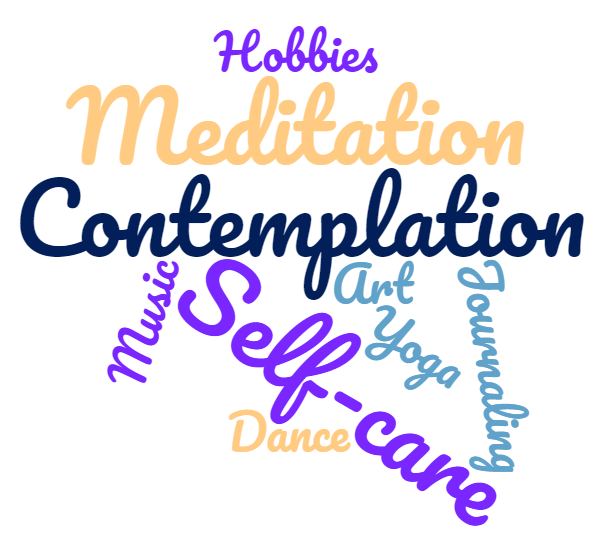 word cloud, self-care inspirations