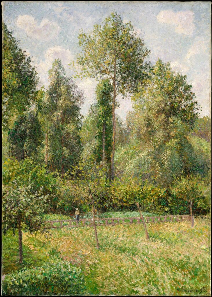 green trees by Camille Pissarro