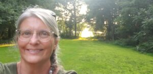 the author at Rolling Ridge Retreat and Conference Center