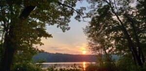 Sunset at Rolling Ridge Retreat and conference center