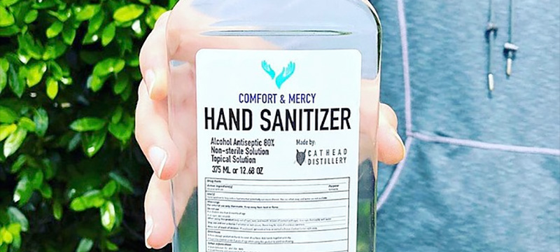 Cathead offers Hand Sanitizer