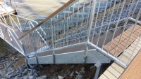 Custom Hot Dipped galvanized stairs and handrails
