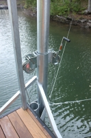 Anchor pole Station with double winches