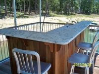 Ipe' custom bar on sundeck under gazebo