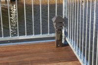 Ipe' decking on sundeck with bronze light