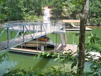 Lake Wedowee ramp attached to sundeck