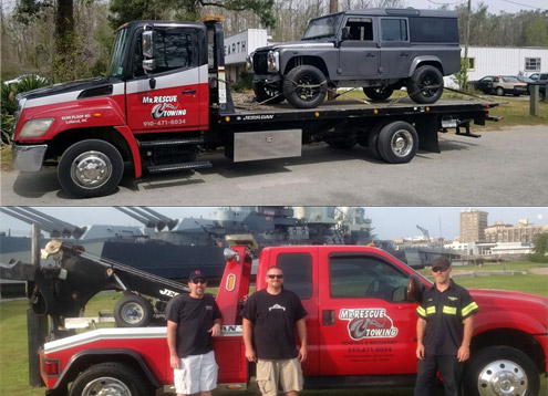 Mr. Rescue Towing offers 24 hour tow truck service in Leland NC 28451