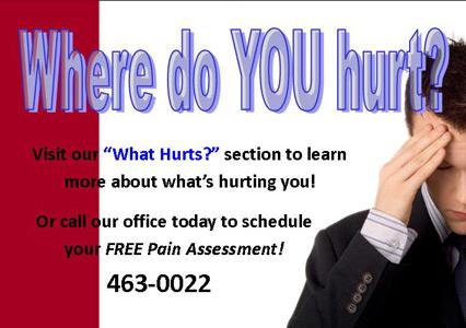 Where do you hurt?