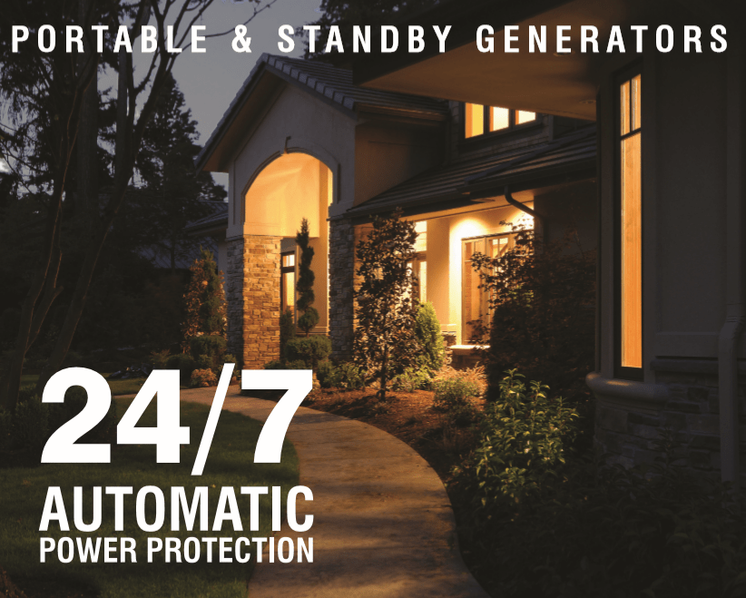 Portable & standby generators available 24/7