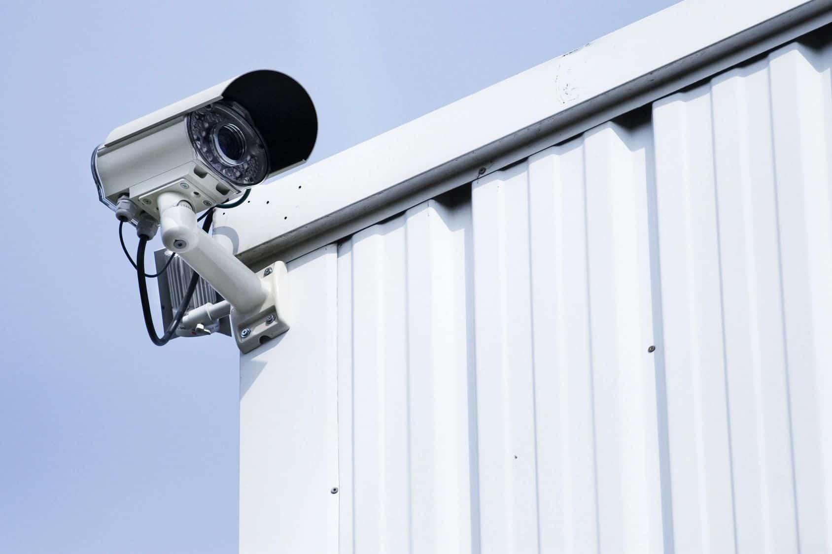 Security Camera on a commercial building