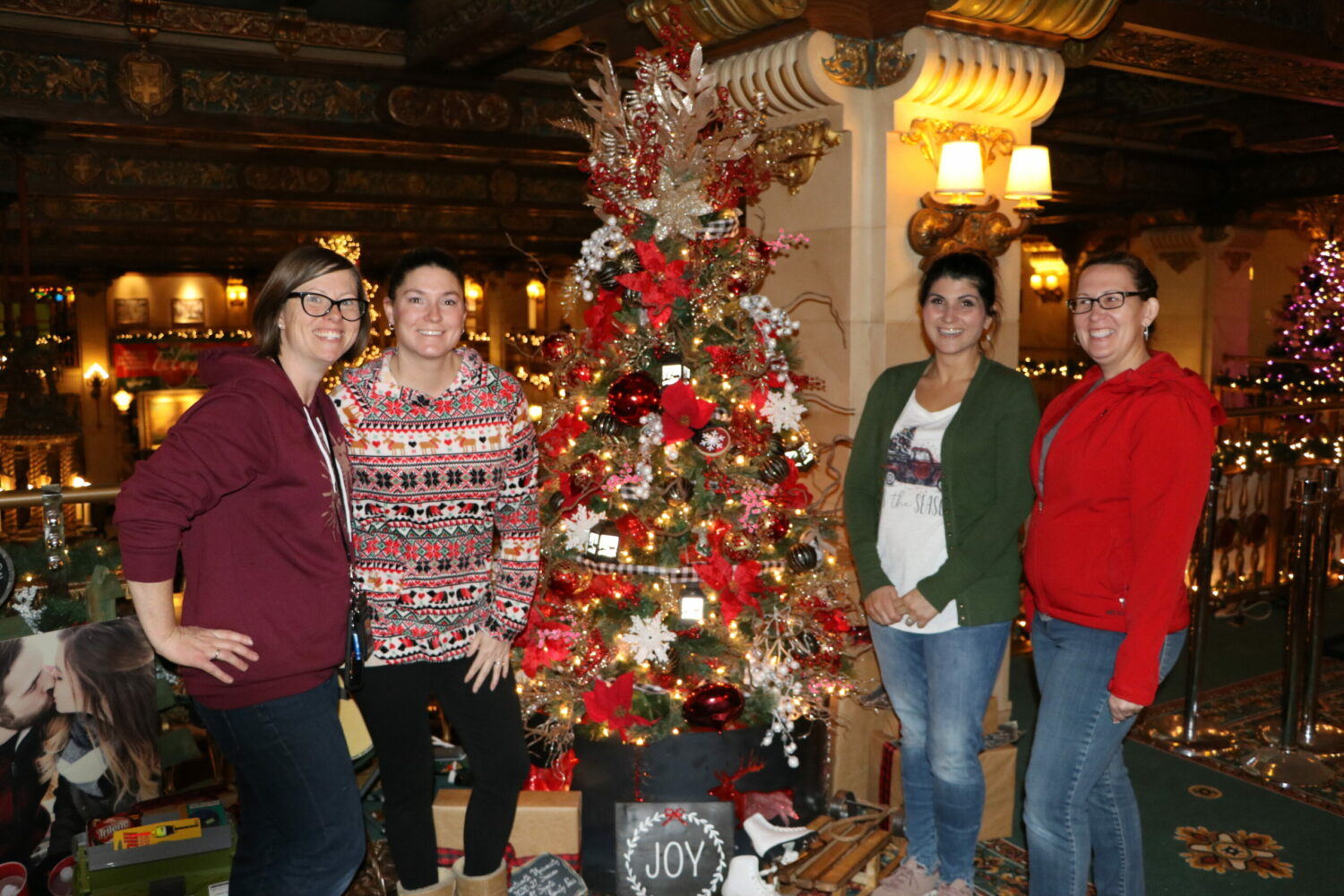 Tree of Elegance Team Standing in front of the VPC Electric tree