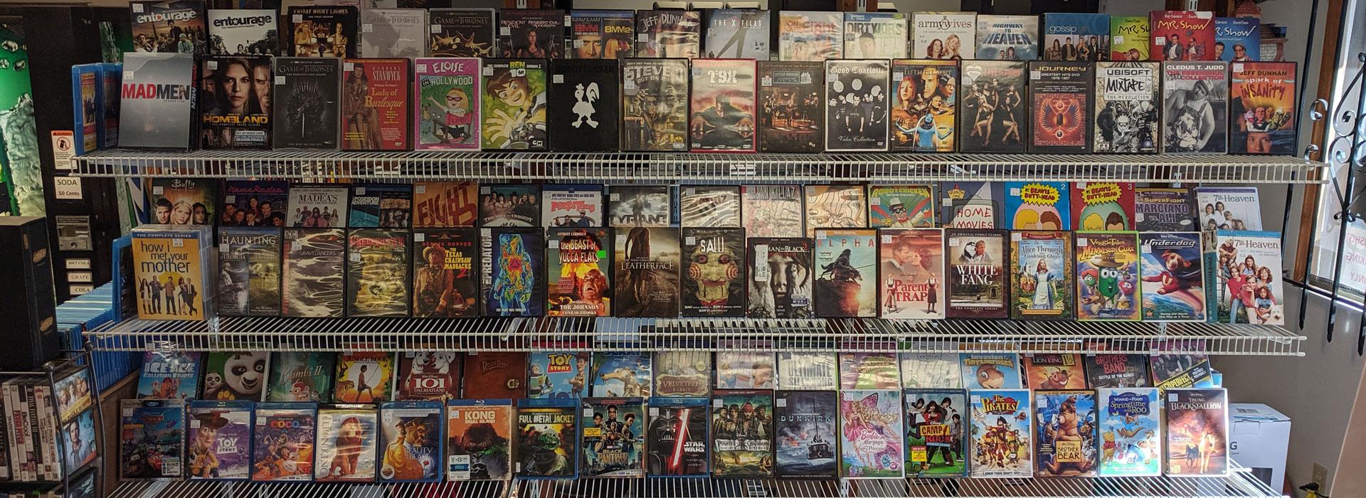 Blu-rays – DVD – TV – Movies