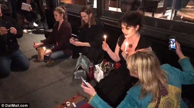Witches Gather To Cast a Halloween Binding Spell on President Trump