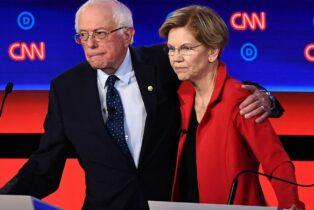 Socialist Democrats Backing Sanders After Warren Rises in Polls