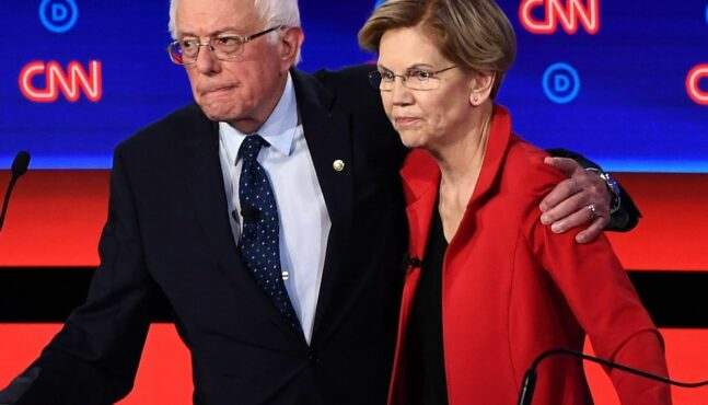 Socialist Democrats Backing Sanders After Warren Rises in Polls